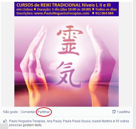 Partilha Reiki Paulo Nogueira Terapias
