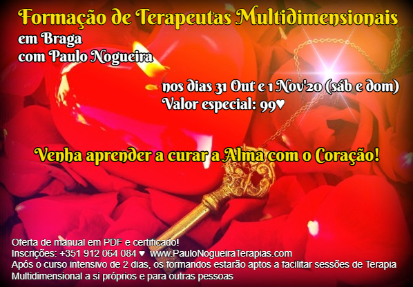 Curso de Terapia Multidimensional Braga - Nov 2020