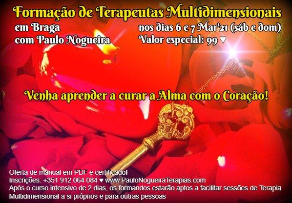 Curso de Terapia Multidimensional em Braga - Mar'21
