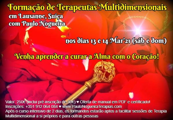 Curso de Terapia Multidimensional em Lausanne - Mar2021